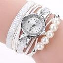ラップブレスレットウォッチ ホワイト レディース 腕時計