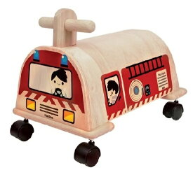 乗用消防車 プラントイ Plantoys 3474 木おもちゃ 1歳以上 12mon ベビー キッズ 子供 乗用玩具