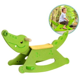 ロッキングアリゲーター ワニさんゆらゆら 3609 プラントイ Plantoys 木おもちゃ 2歳以上 ベビー キッズ 子供 知育玩具
