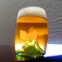 月夜野工房 ビールグラス 夕焼けのやま ビアグラス TCB-15 P10 父の日 ギフト