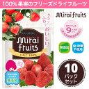 【送料無料】ミライフルーツ いちご 10パック 未来果実 フリーズドライフルーツ 乾燥イチゴ 無添加 砂糖不使用 ベビーフード ヨーグル…