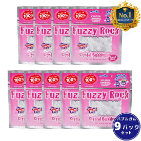 キシリトール 100% キャンディー タブレット FuzzyRock ファジーロック バブルガム味 9パックセット あめ アメ こども 虫歯 甘い 爽快感 歯磨き ノンシュガー 糖類オフ 歯 矯正 防災