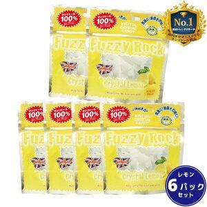 【キシリトール 100%】 キャンディー タブレット FuzzyRock ファジーロック レモン味 6パックセット あめ アメ こども 虫歯 甘い 爽快感 歯磨き ノンシュガー 糖類オフ 歯 矯正 防災