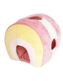 【正規品】【数量限定特価】ペッツルート ロールケーキ イチゴカスタード  犬 ペット あったか 冬物 防寒 ベッド