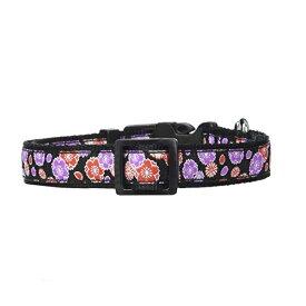【在庫限り】ペティオ (Petio) 首輪 犬雅 桜と菊 カラー ブラック M サイズ 中型犬用