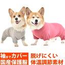 WHCY TピースC−E袖ありタイプ(コーギー専用サイズ) アレルギー の カイカイ 換毛期 の 部屋着 お散歩時の 花粉対策…