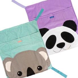 もぐれるパンダ・もぐれるコアラ(ハンモック)(マジックテープ付き)(F1)フェレット 秋用 冬用 ハンモック 寝袋 ボア コットン かわいい もぐれる 動物柄
