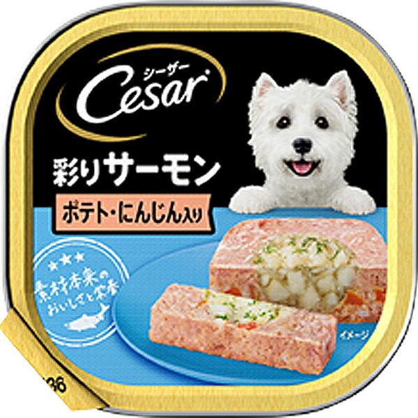 シーザートレイ サーモン風味 ポテトとにんじん入り ふわふわローフタイプ 100g×24コ