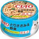 チャオ ホワイティ とりささみ&野菜 85g×24缶〔17050814cw〕