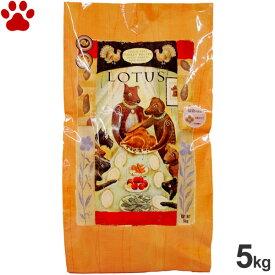 【75】ロータス グレインフリー ターキーレシピ 小粒 成犬用 5kg穀物不使用 アダルト オーブンベークド ナチュラルフード ドッグフード ドライフード 犬 全犬種 LOTUS