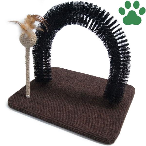 【90】 キャティーマン 猫用ファニチャー モダンルーム 毛づくろいブラシ 音がなるおもちゃ付き 爪みがき  ドギーマン