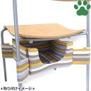 【40】 キャティーマン 猫用ファニチャー にゃんこの隠れ家ベッド ブラウンストライプ 椅子に取り付け  ドギーマン ハンモック