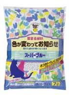 【Super cat】スーパーブルー 6.5L 固まる紙砂 色が変わってお知らせ 猫砂