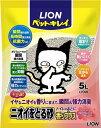 【ライオン】ニオイをとる砂 フローラルソープの香り 5L 猫砂
