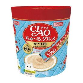 【いなば】CIAO ちゅ〜る かつお かつお節&ほたて貝柱入り 猫 おやつ 14g×60本