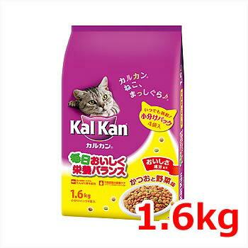 ★【今月のお買い得商品】カルカン 成猫用 かつおと野菜味 1.6kg