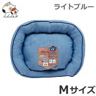 ペティオデニム調のひんやりやわらかベッドライトブルーMサイズ接触冷感犬猫両用