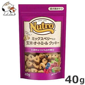 ニュートロ ミックスベリー入り 玄米・オートミール クッキー 40g 低カロリー 無添加 着色料不使用