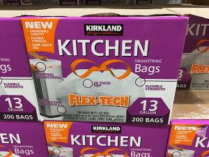 【コストコ】#1089787 KIRKLAND カークランド キッチンバッグ ひも付きゴミ袋 49.2L 200枚 送料無料【Z】