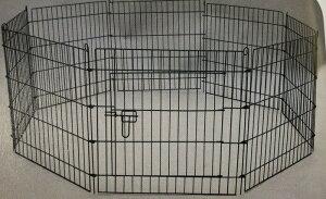 【残りわずか】犬 ペットサークル L ケージ 8面 高さ91.5cm 小型犬〜中型犬 ゲージ 折りたたみ ペットフェンス YD008S-3 室内・屋外 組み立て簡単 送料無料
