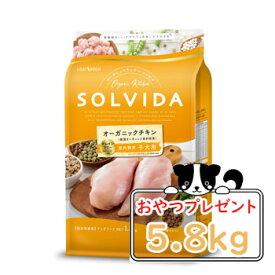 【おまけ対象商品】SOLVIDA ソルビダ グレインフリー チキン 室内飼育子犬用 5.8kg【オーガニック/ドライフードパピー/ペットフード/DOG FOOD/ドックフード/正規品】【39ショップ】
