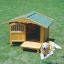 犬小屋 犬舎 送料無料 ロッジ犬舎 RK-1100[木製犬舎 大型犬用 屋外 庭 ペットハウス アイリスオーヤマ] 楽天◆5