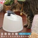 ペット用 自動給水機 ホワイト/クリア PWF-200自動給水器 給水器 食器 水 自動 交換 ペット ペット用 ペット用品 犬 …
