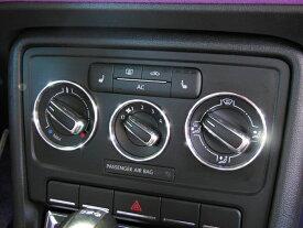 vw フォルクスワーゲン ザビートル アルミマニュアルエアコンダイアルリング 3PCS the Beetle 内装パーツ