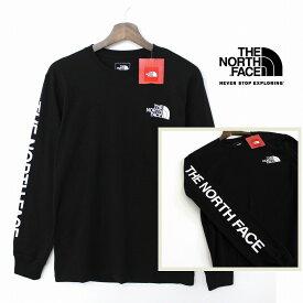 THE NORTH FACE ザ ノースフェイス 袖ロゴ ロングスリーブ ロンT カットソー メンズ TNF BLACK 黒色