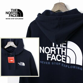 THE NORTH FACE ザ ノースフェイス HALFDOME NSE ロゴ プルオーバー パーカー メンズ URBAN NAVY 裏起毛