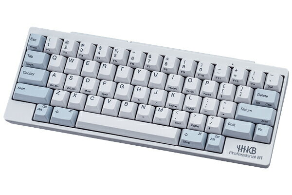PFU製 Happy Hacking Keyboard Professional BT 英語配列/白PD-KB600W PC キーボード Bluetooth ワイヤレス コンパクト テンキー無