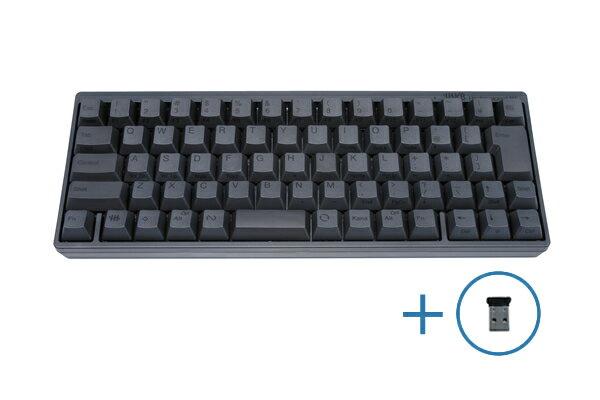 【送料無料】PFU製Happy Hacking Keyboard Professional BT 日本語配列/墨 Bluetooth-USBアダプタセット KB620B-BTUSBA
