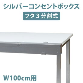 収納したまま使えるケーブル収納ボックス シルバー W1000 コンセントボックス ケーブルボックス コードボックス コード類 まとめる たこ足配線 ほこり防止 埃避け(23-001MH-2)