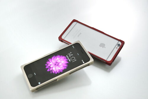 watt-navedesignRECTAiPhone6用バンパーケースMetallicREDWNERE-202