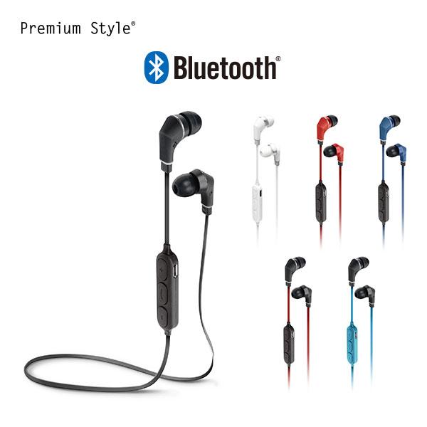 Premium Style イヤホン Bluetooth 4.1搭載 ワイヤレス ステレオ 全6色【ブルートゥース iPhone XS 8 Plus X XS Max かっこいい 簡単接続 軽量 AAC 採用】