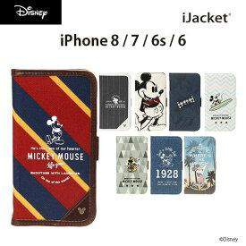 iJacket フリップカバー iPhone 8/7/6s/6 ディズニーキャラクター ミッキーマウス UNISTYLE 全8タイプ【ビジネス アーバン おしゃれ ユニセックス ハワイアン アウトドア スポーティー カジュアル トレッキング ハイキング シンプル デニム 大人かわいい】