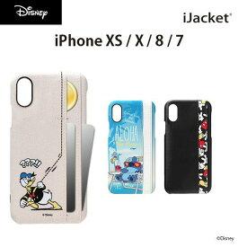 UNISTYLE ディズニーキャラクター ハードケース iPhoneX・XS / 8・7 3ポケット付き 全3種類【テン iPhone ミッキーマウス ドナルド スティッチ カードポケット かわいい かっこいい シンプル キャラクター Mickey Mouse Disney スマホケース スマホカバー】