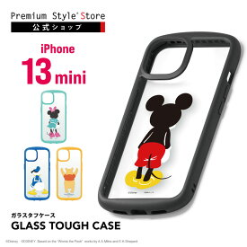 iPhone 13 mini用 ガラスタフケース【あいふぉん アイフォン 新型 2021年 iPhone 5.4inch スマホケース スマホカバー ディズニー Disney ミッキーマウス ミニーマウス ドナルドダック くまのプーさん】