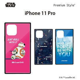 iPhone 11 Pro用 ガラスハイブリッドケース【スターウォーズ BB-8 スマホカバー スマホケース 高硬度9Hガラス ハイブリッド アイフォン 11pro TPU】