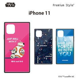 iPhone 11用 ガラスハイブリッドケース 【スターウォーズ BB-8 ガラス ハイブリッド アイフォン 11】