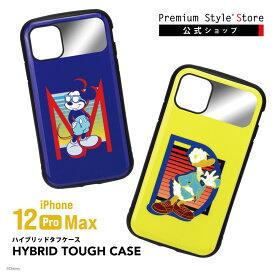 iPhone 12 Pro Max用 ハイブリッドタフケース【 アイフォン iPhone6.7インチ 12promax 12プロマックス promax プロマックス スマホケース スマホカバー ディズニー Disney ミッキー ドナルド】