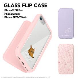 iPhone 12/12 Pro用 、iPhone 12 mini用、iPhone SE(第2世代)/8/7/6s/6用 ガラスフリップケース [トムとジェリー]