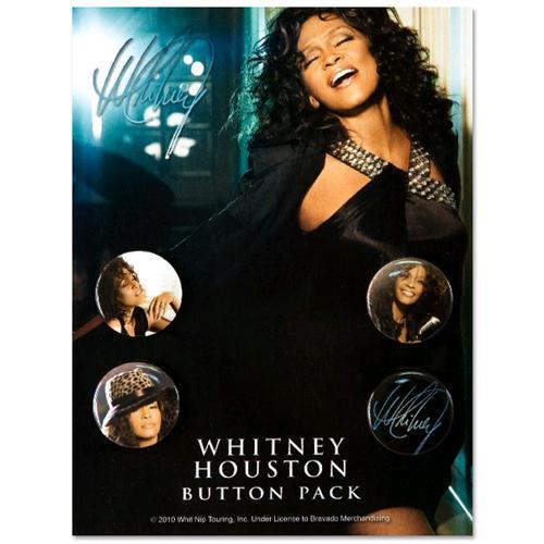 WHITNEY HOUSTON ホイットニー・ヒューストン - Whitney Houston Pack / バッジ 【公式 / オフィシャル】