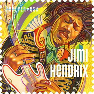JIMI HENDRIX ジミヘンドリックス - MUSIC ICONS記念切手シート / ポストカード・レター 【公式 / オフィシャル】