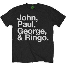 BEATLES ビートルズ (Abbey Road 50周年記念 ) - JOHN, PAUL, GEORGE & RINGO / Tシャツ / メンズ 【公式 / オフィシャル】