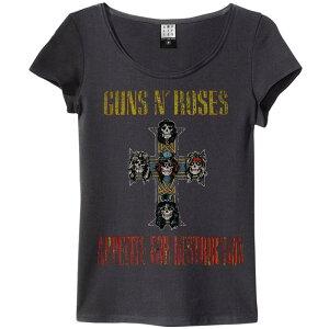 GUNS N ROSES ガンズアンドローゼズ (デビュー35周年記念 ) - APPETITE FOR DESTRUCTION / Amplified( ブランド ) / Tシャツ / レディース 【公式 / オフィシャル】