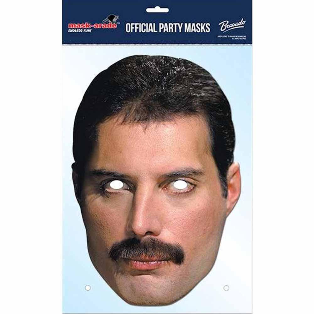 QUEEN クイーン (ボヘミアン・ラプソディ公開記念 ) - Freddie Mercury Mask / ハロウィン / ホビー雑貨 【公式 / オフィシャル】