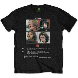 BEATLES ビートルズ (Abbey Road 50周年記念 ) - LET IT BE 8 TRACK / Tシャツ / メンズ 【公式 / オフィシャル】