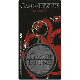 GAME OF THRONES ゲーム・オブ・スローンズ Logo / ラバー・キーリング / キーホルダー 【公式 / オフィシャル】