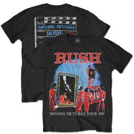 RUSH ラッシュ (Neil Peart追悼 ) - 1981 TOUR WITH BACK PRINTING (復刻ツアーTシリーズ) / バックプリントあり / Tシャツ / メンズ 【公式 / オフィシャル】